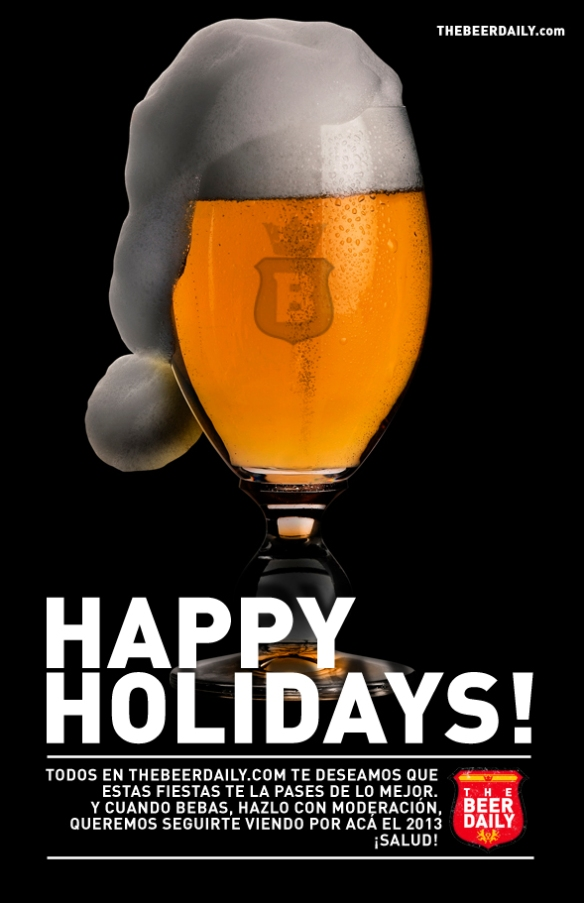 ¡Felices fiestas les deseamos todos acá en TheBeerDaily.com!