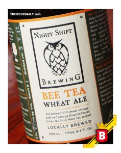 Con té verde, esta Bee Tea Wheat Ale