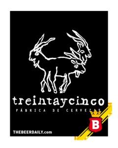 El logo de Treintaycinco con todo y cabra mutante.