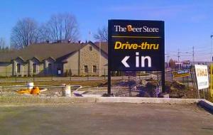 """La entrada al """"AutoBeer"""" de The Beer Store"""
