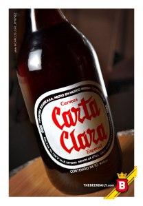 La botella de litro de Carta Clara que tenemos en la colección de TheBeerDaily.com