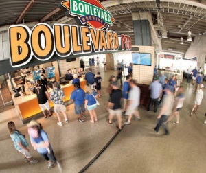 Boulevard Brewing Co. dentro del estadio de los Reales de KC