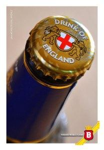 """La tapa de esta Bombardier recordándonos que esta es """"Drink of England"""""""