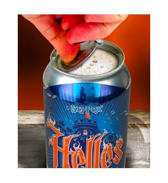 La tapa totalmente desprendible de esta lata 360º de SlyFox