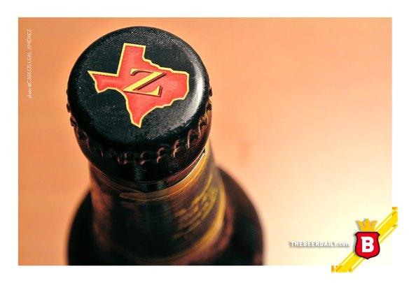 La silueta del estado de Texas, en la tapa de esta cerveza