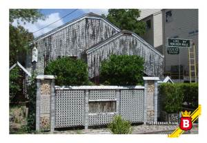 Otro ángulo de esta peculiar casa cervecera Texana. Foto © Andrew Wiseman