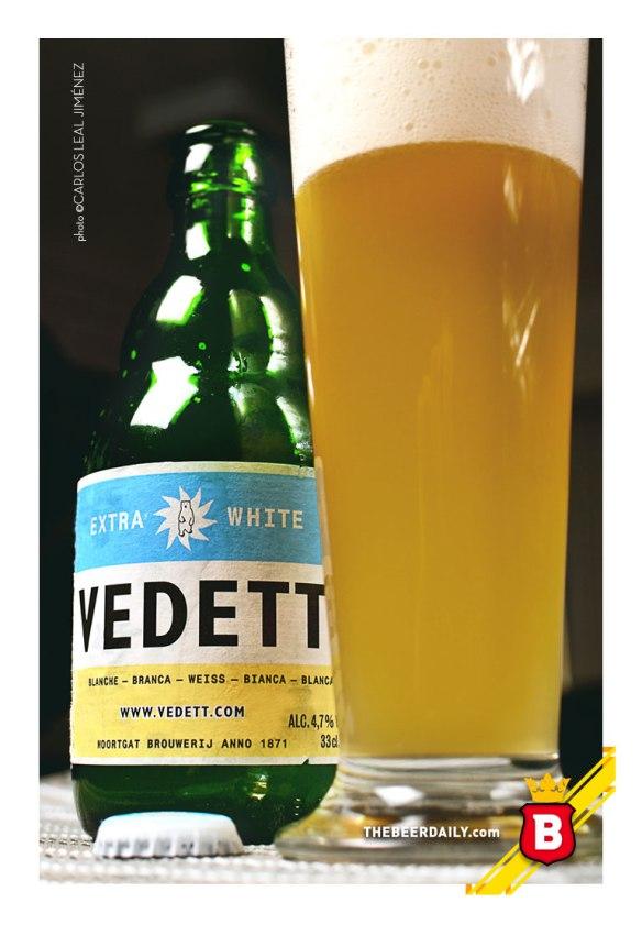 Un color amarillo apastelado, la de esta Vedett