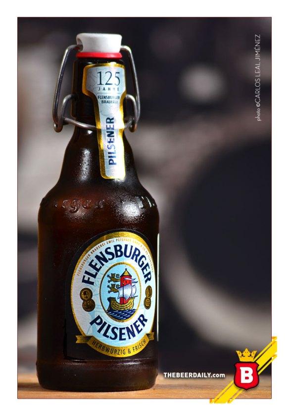 La sobria botella de esta Flensburger PIlsener
