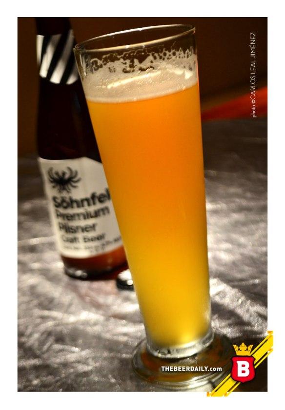 De un color dorado-paja, esta cerveza Pilsner hecha en el Estado de México