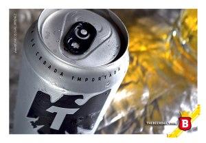 En la lata indican que esta cerveza está hecha con Cebada Importada