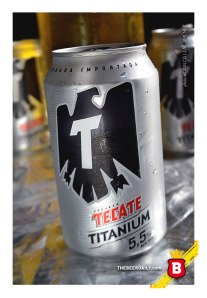 Esta Titanium, con una lata un poco parecida a su hermana, la Tecate Light