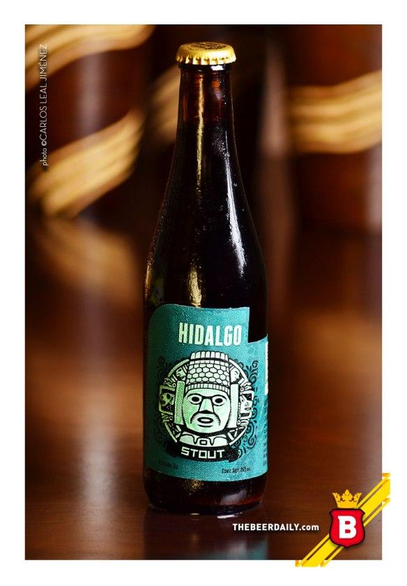 La imagen estilizada de un Atlante de Tula, en esta Hidalgo Stout