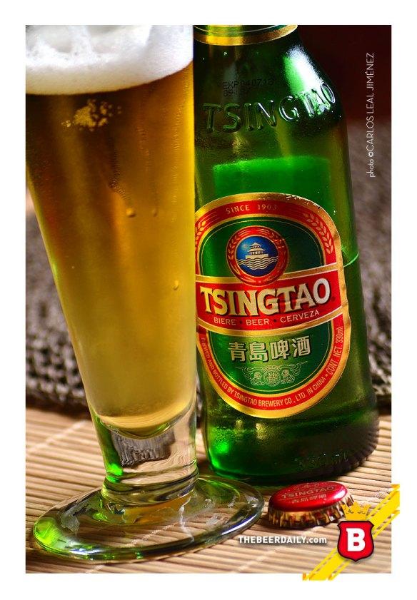 De cuerpo ligero y color dorado, esta cerveza china
