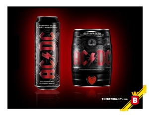 "Los empaques de la AC/DC beer, con el toque ""Back in Black"""
