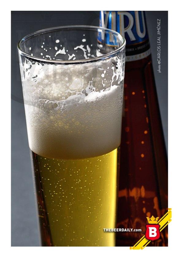 Buena espuma, en esta cerveza de cuerpo y amargor ligero