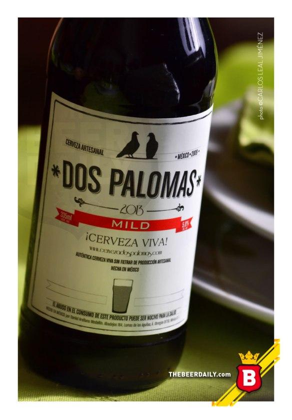Esta es la Dos Palomas Mild, elaborada en la Cd. de México