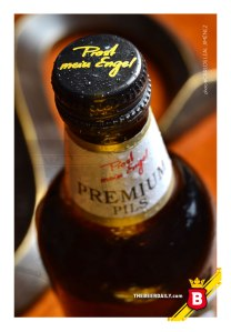 Con taparosca metálica, esta cerveza germana