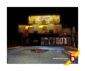 Este es el Budweiser Hotel, en Copacabana