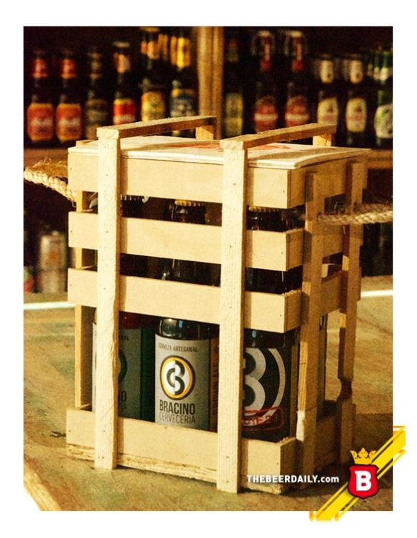 Acá la caja de Lúpulo con seis cheves de Bracino