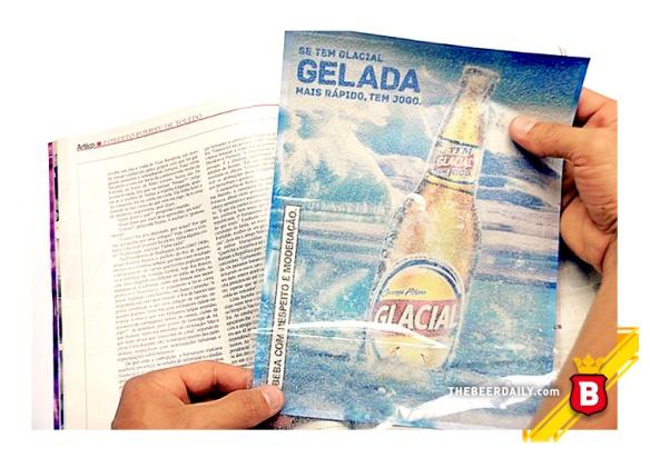 El anuncio, a manera de inserto en varias revistas brasileñas.