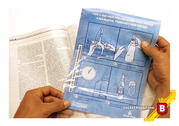 """Las instrucciones, al reverso del anuncio de """"Glacial"""""""