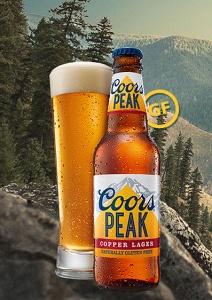 Atractiva la imagen de esta Coors Peak