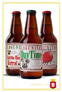 Algunas de las cervezas de Lagunitas Brewing Co.